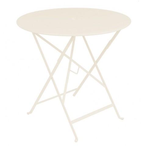 Table ronde pliante BISTRO de Fermob D.77 x H.74 cm Lin