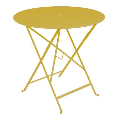 Table ronde pliante BISTRO de Fermob, D.77 x H.74 cm, Miel