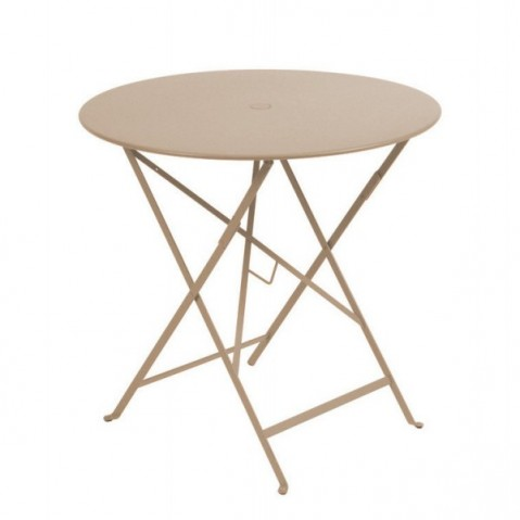 Table ronde pliante BISTRO de Fermob D.77 x H.74 cm Muscade
