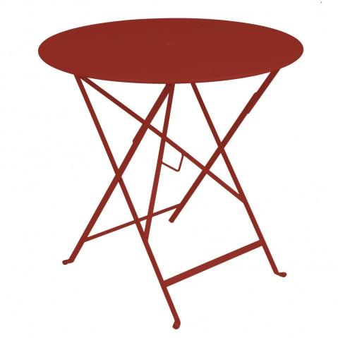 Table ronde pliante BISTRO de Fermob D.77 x H.74 cm Piment