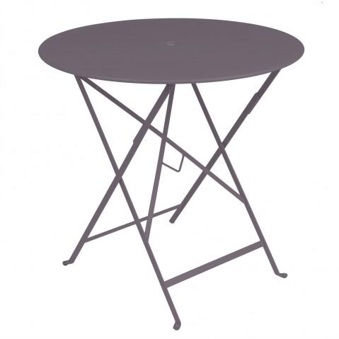 Table ronde pliante BISTRO de Fermob D.77 x H.74 cm Prune
