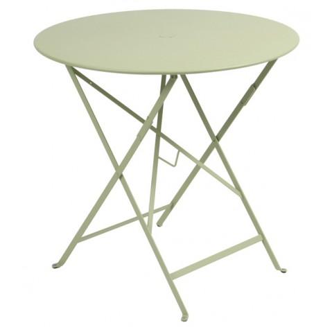 Table ronde pliante BISTRO de Fermob D.77 x H.74 cm Tilleul