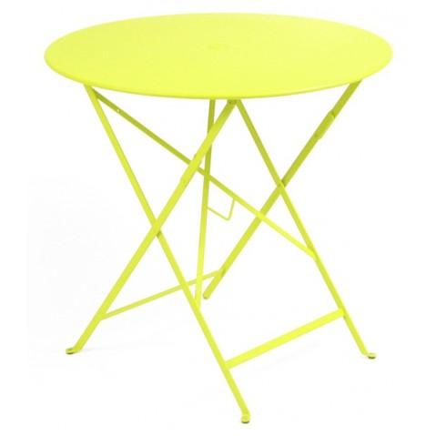 Table ronde pliante BISTRO de Fermob D.77 x H.74 cm Verveine