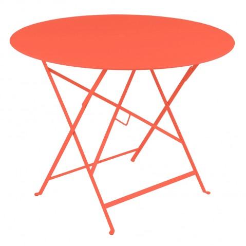 Table ronde pliante BISTRO de Fermob, D.96 x H.74 cm, Capucine