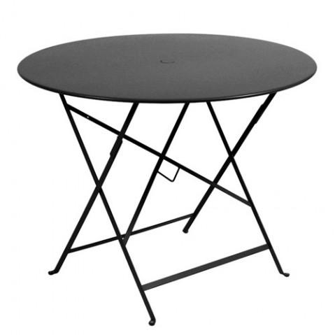 Table ronde pliante BISTRO de Fermob D.96 x H.74 cm Carbone