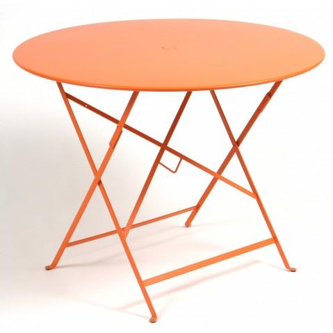 Table ronde pliante BISTRO de Fermob D.96 x H.74 cm Carotte