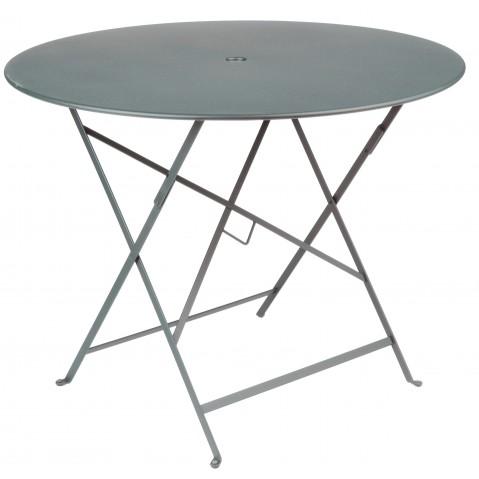 Table ronde pliante BISTRO de Fermob D.96 x H.74 cm Gros orage