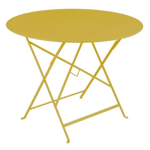 Table ronde pliante BISTRO de Fermob, D.96 x H.74 cm, Miel