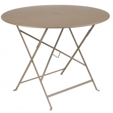 Table ronde pliante BISTRO de Fermob D.96 x H.74 cm Muscade