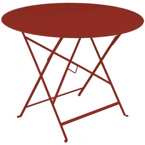 Table ronde pliante BISTRO de Fermob D.96 x H.74 cm Piment