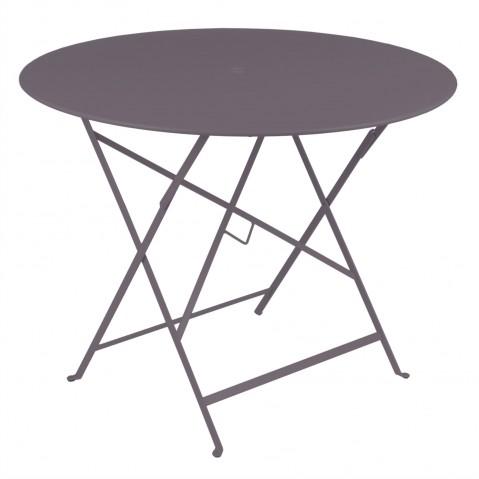 Table ronde pliante BISTRO de Fermob D.96 x H.74 cm Prune