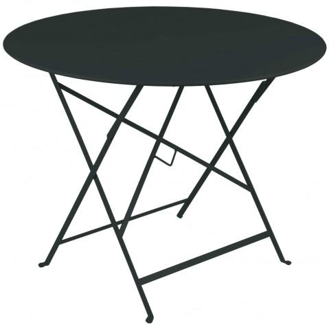 Table ronde pliante BISTRO de Fermob D.96 x H.74 cm Réglisse