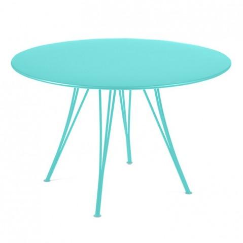 Table ronde RENDEZ-VOUS de Fermob Bleu lagune