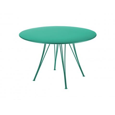 Table ronde RENDEZ-VOUS de Fermob bleu turquoise