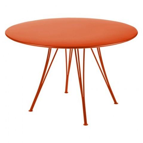 Table ronde RENDEZ-VOUS de Fermob paprika