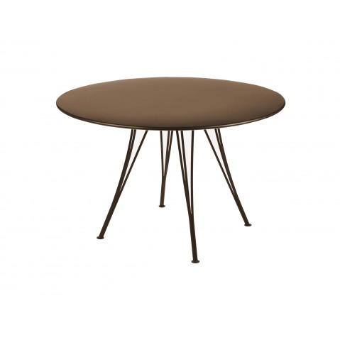 Table ronde RENDEZ-VOUS de Fermob rouille