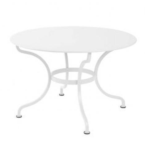 Table ronde ROMANE 117 cm de Fermob blanc coton