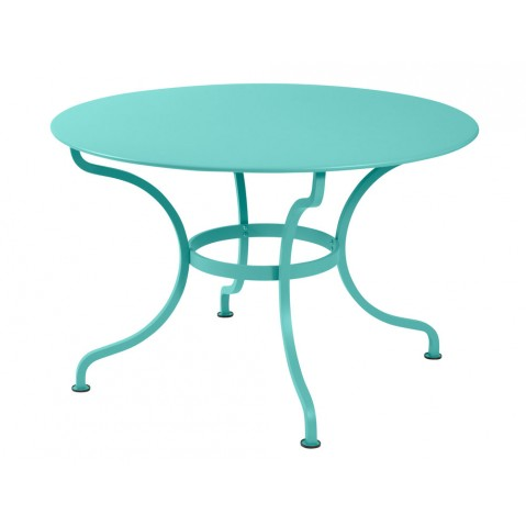 Table ronde ROMANE 117 cm de Fermob, Bleu lagune