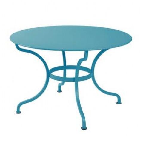 Table ronde ROMANE 117 cm de Fermob bleu turquoise
