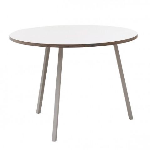 Table ronde STAND LOOP de Hay, Blanc