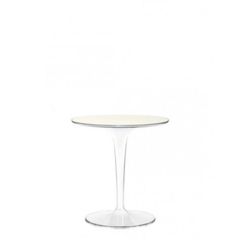 Table ronde TIP TOP de Kartell, Blanc Opaque