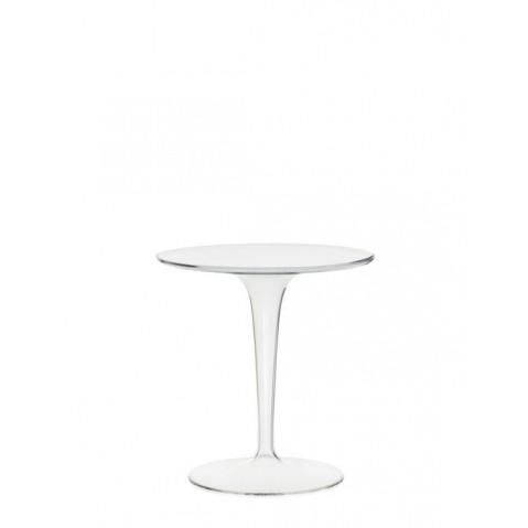 Table ronde TIP TOP de Kartell, Cristal
