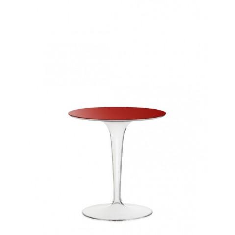 Table ronde TIP TOP de Kartell, Rouge Opaque