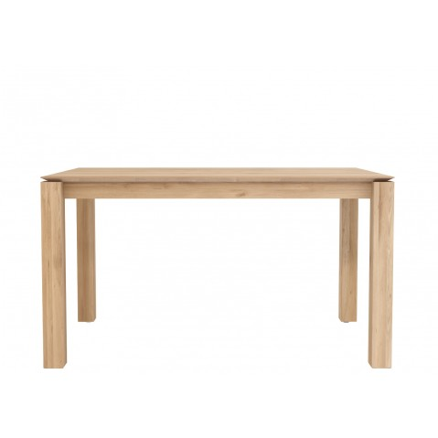 Table SLICE en chêne d'Ethnicraft, 140x80cm