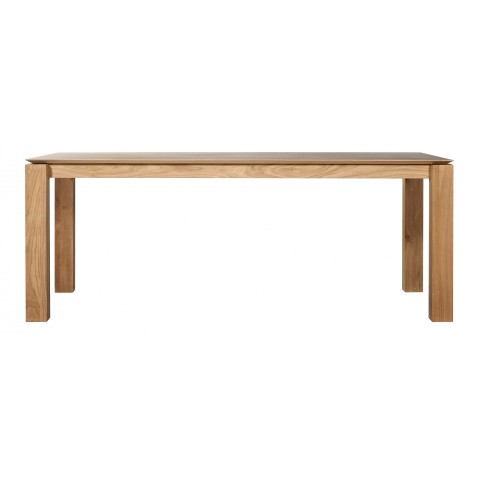 Table SLICE en chêne d'Ethnicraft, 200x100cm