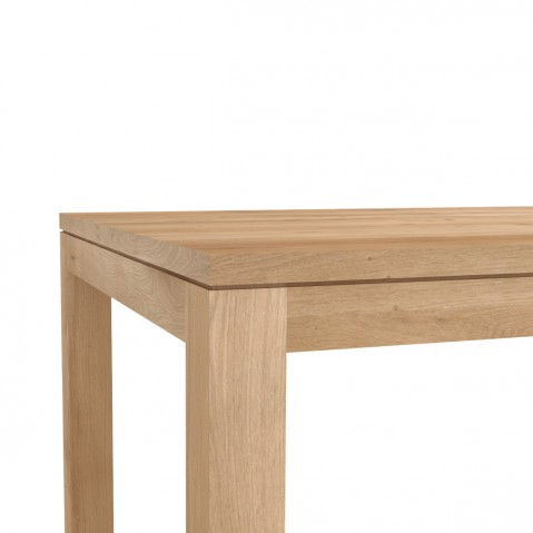 Table STRAIGHT en chêne d'Ethnicraft, 160x90cm