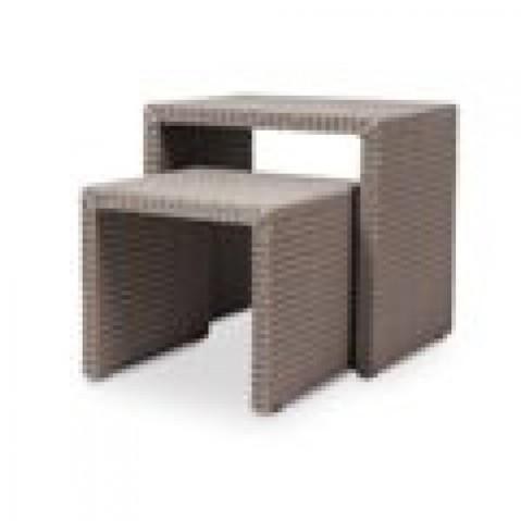 Tables Basses Vincent Sheppard Ping Pong dark grey wash-02