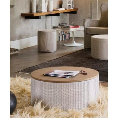 Tables Basses Vincent Sheppard Rondo Oak top Quartz grey-03
