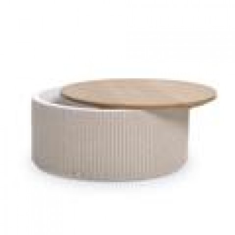 Tables Basses Vincent Sheppard Rondo Oak top Stone grey-02