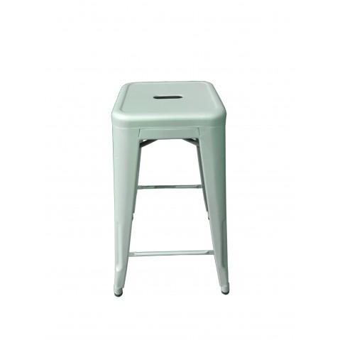 tabouret de tolix acier mat textur bleu oc an. Black Bedroom Furniture Sets. Home Design Ideas