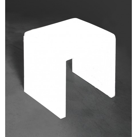 Tabouret BIG IRONY STOOL de Zeus , 4447H36P, Blanc