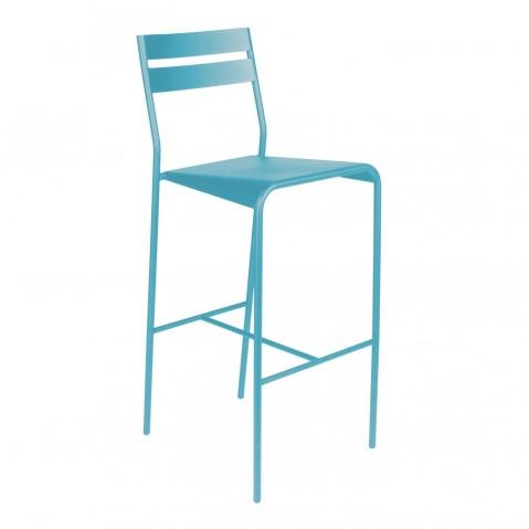 Tabouret de bar FACTO de Fermob bleu turquoise