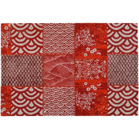 Tapis OSAKA de toulemonde Bochart, Rouge, 170 x 240