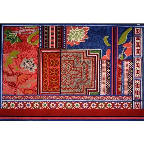Tapis Toulemonde Bochart BAYA 170 x 240 multi rouge