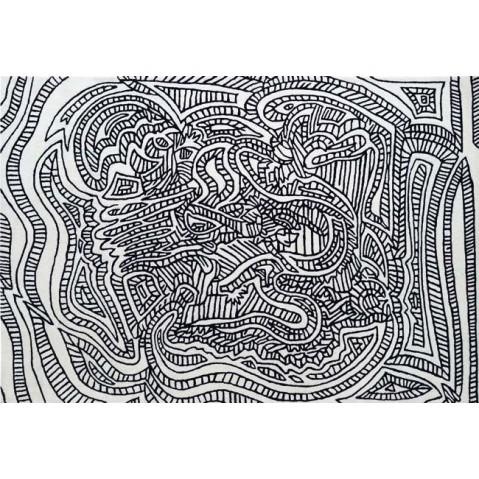 Tapis Toulemonde Bochart DRAGOON 250 x 350 Noir et blanc