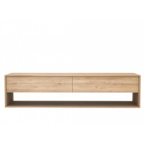 meuble tv oak nordic d 39 ethnicraft 1 porte abattante 1. Black Bedroom Furniture Sets. Home Design Ideas