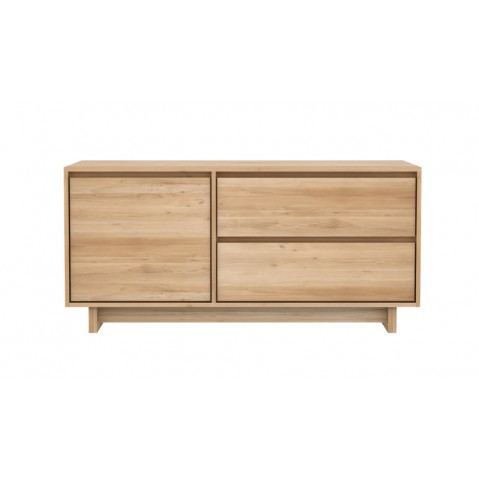 meuble tv oak wave en chne dethnicraft 1 portes 1 porte abattante 1 tiroir