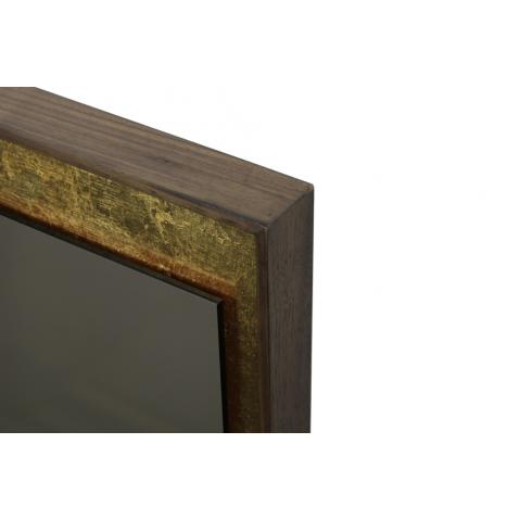 Miroir mural rectangulaire 198x76 gold leaf avec cadre en for Miroir mural en bois