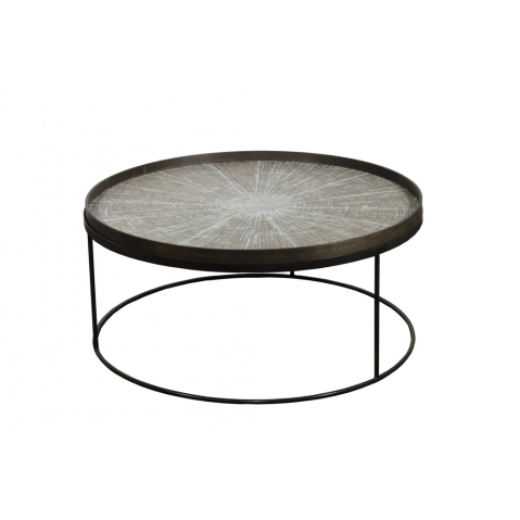 Round Tray Table Basse Extra Large de Notre Monde, Ø93xH.38