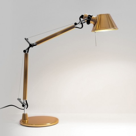 lampe tolomeo micro gold d 39 artemide. Black Bedroom Furniture Sets. Home Design Ideas