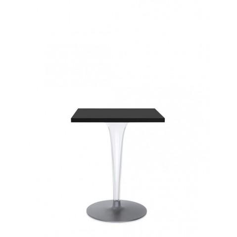 Table carrée TOP TOP de Kartell avec base ronde, 2 tailles, 3 coloris