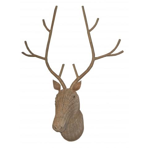 Trophée CERF naturel petit modèle