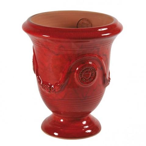 Vase ANDUZE émail rouge D. 42