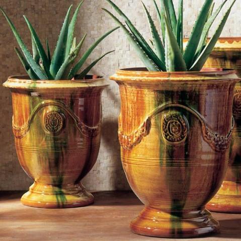 Vase d'Anduze Email Flammé D.68