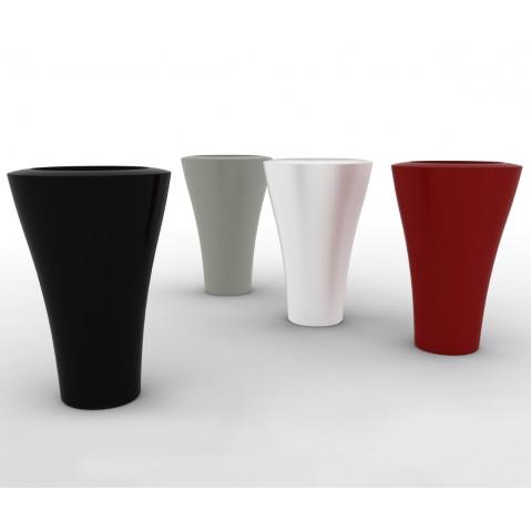 Vase MING de Serralunga laqué rouge