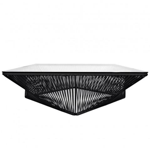 Table Basse Carree Noire.Table Basse Carree Veracruz De Boqa 100 X 100 Noir D Aniline
